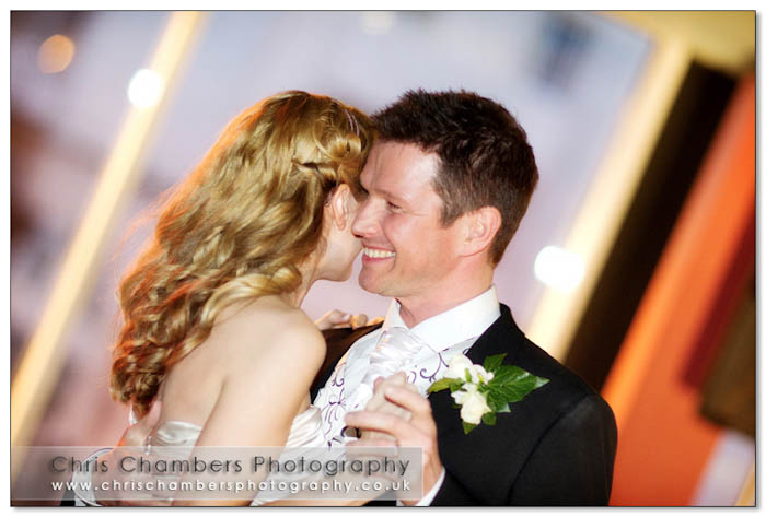 First Dance in Leeds West Yorkshire. Wedding photography from Chris Chambers